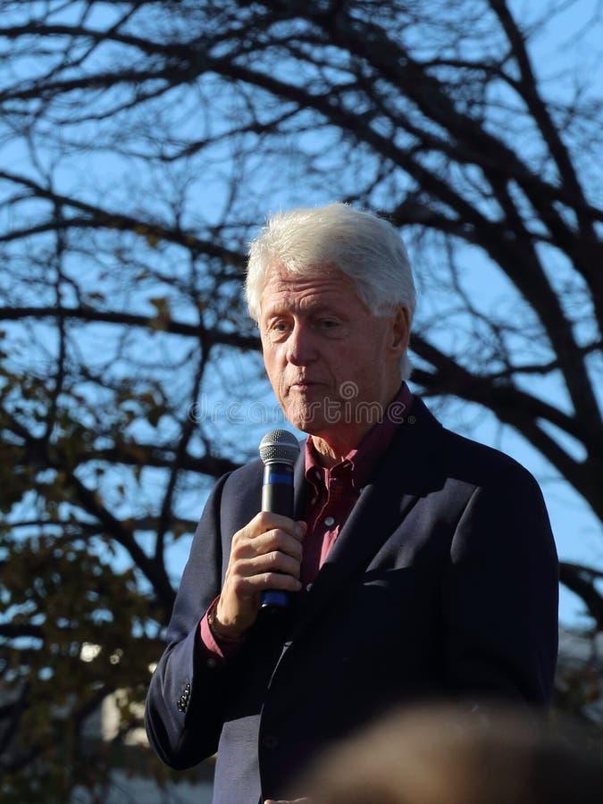 支持总统的比尔・克林顿希拉里・克林顿 免版税库存图片