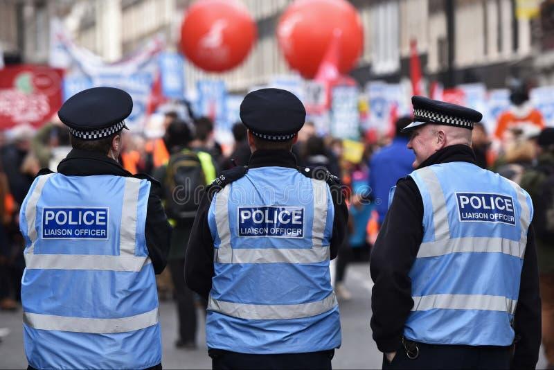 支持NHS的数千3月 免版税图库摄影