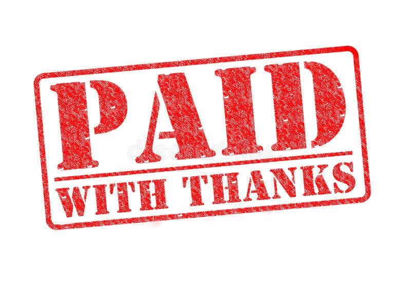 支付与感谢 库存例证