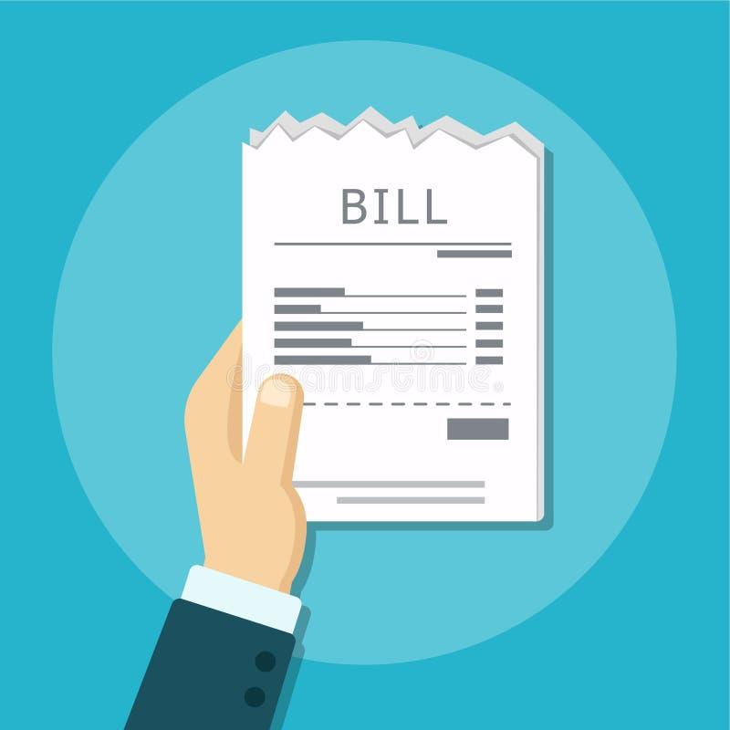支付的比尔 向量例证
