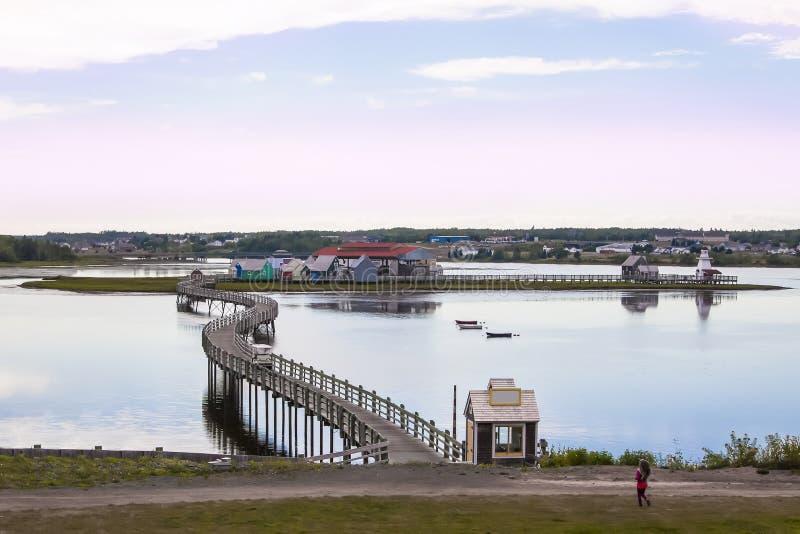 支付de la Saguoine,新不伦瑞克,加拿大 库存图片