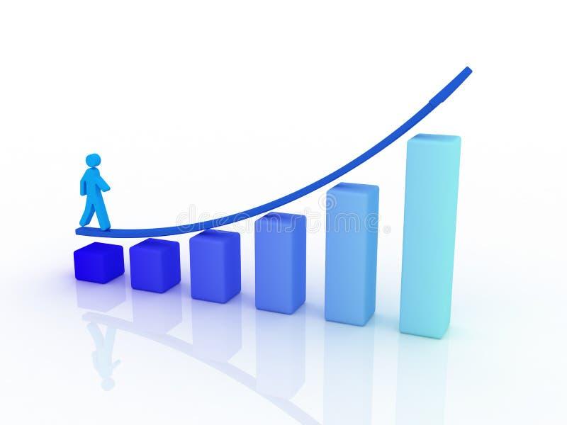 收入上升 向量例证