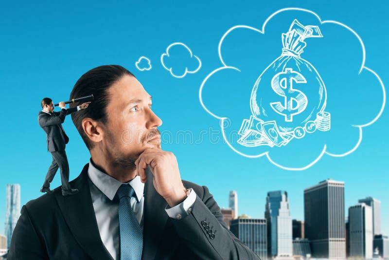 收入和储款概念 免版税库存照片