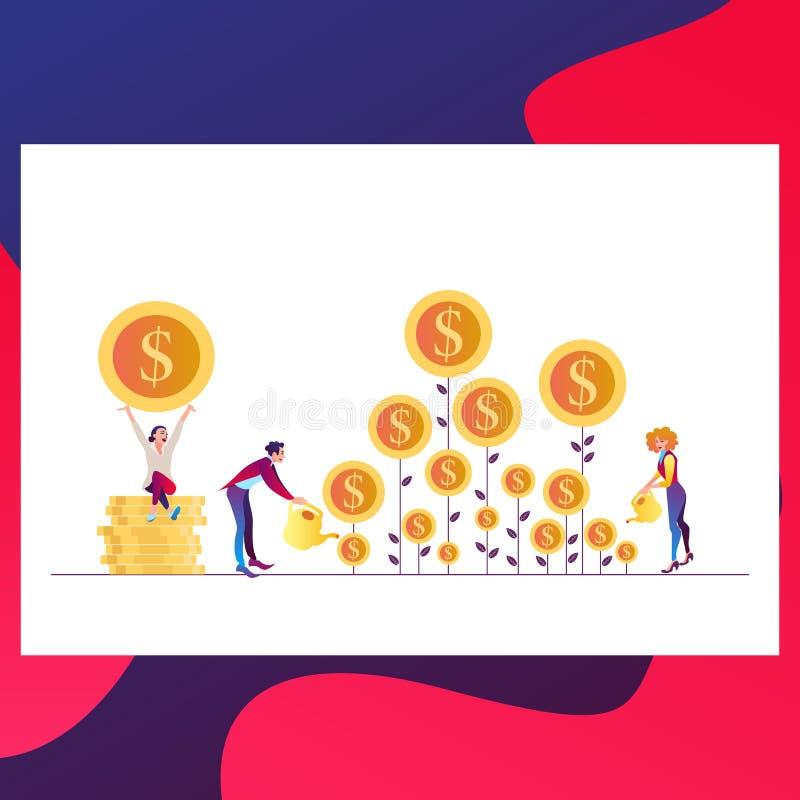 收入增量战略 的财政高回收投资,筹款和收支成长或者利息 向量例证