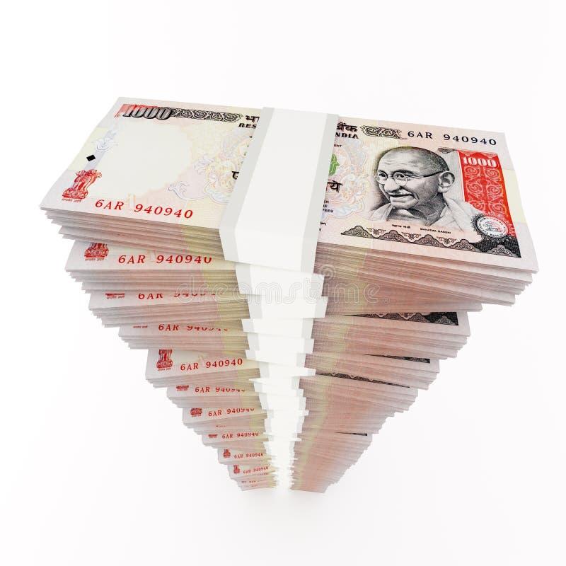 收入增量货币陈列栈 库存例证