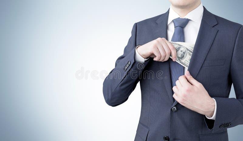 收入金钱 免版税库存照片