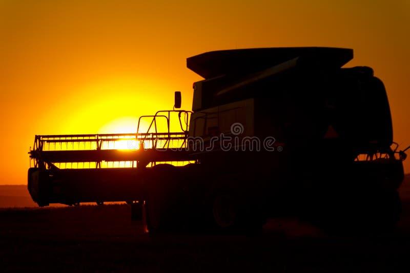 收割机麦子 免版税库存照片
