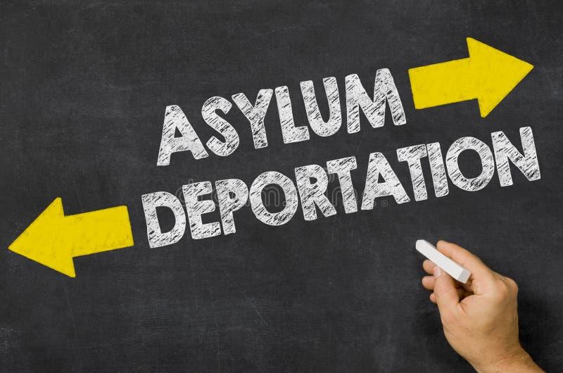 收容所或驱逐出境 免版税库存图片