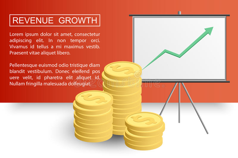收支成长profit2-01 向量例证