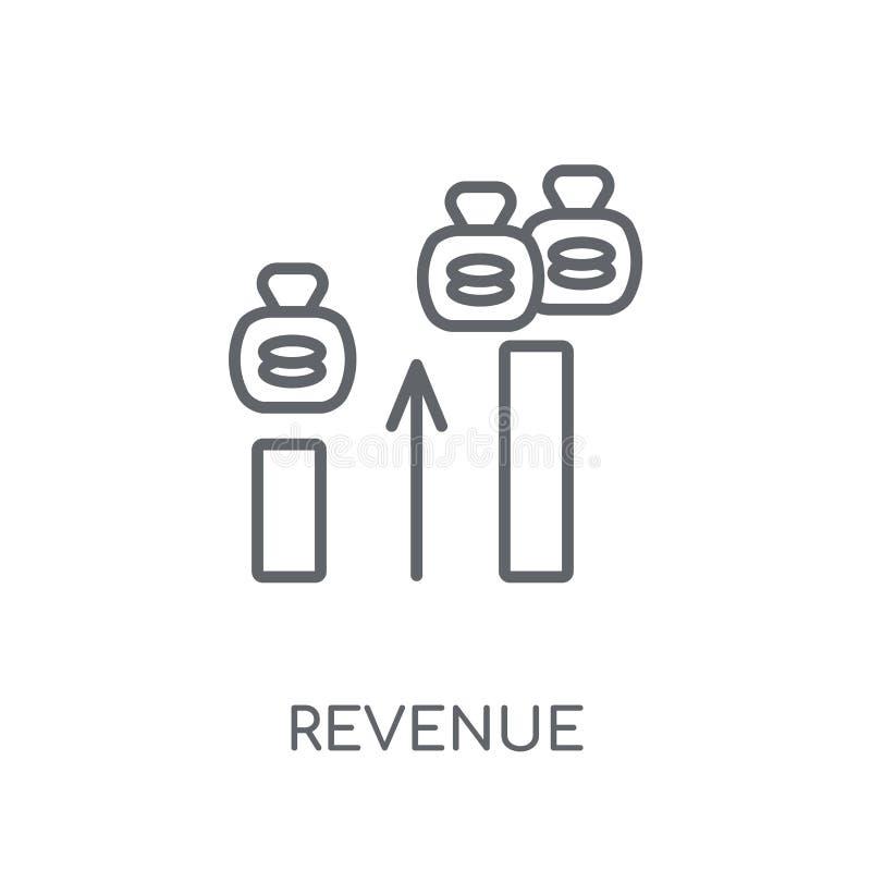 收支线性象 在丝毫的现代概述收支商标概念 皇族释放例证