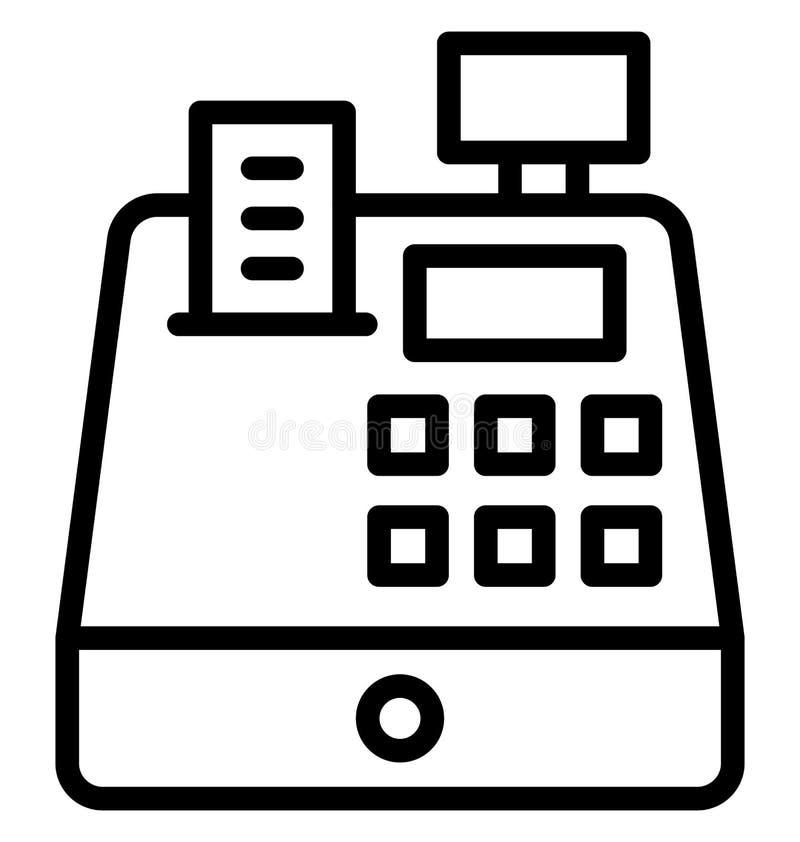 收款机,直到在所有大小可以容易地被编辑或修改的被隔绝的传染媒介象的现金 向量例证