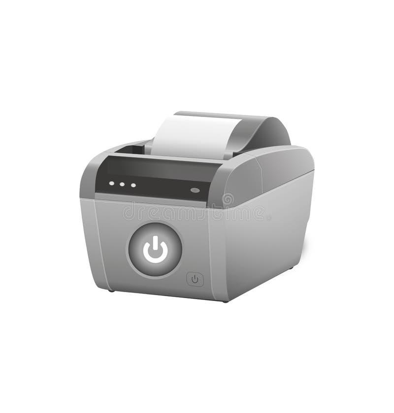 收货打印机 向量例证