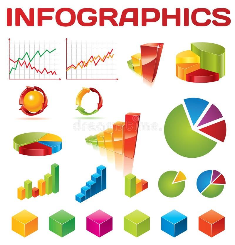 收集五颜六色的infographic向量
