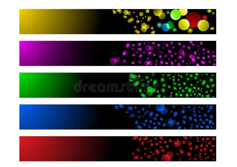 收集发光的标头 向量例证