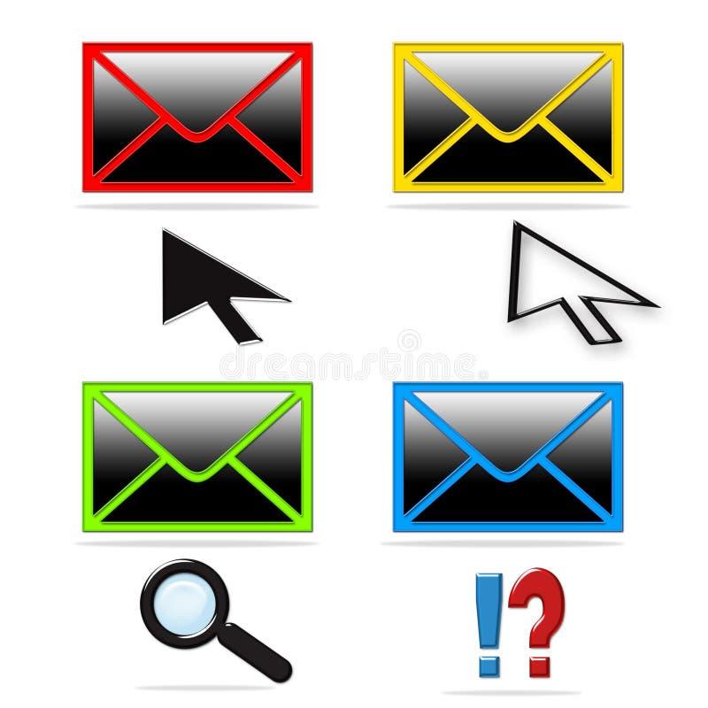 收集图标邮件 库存例证