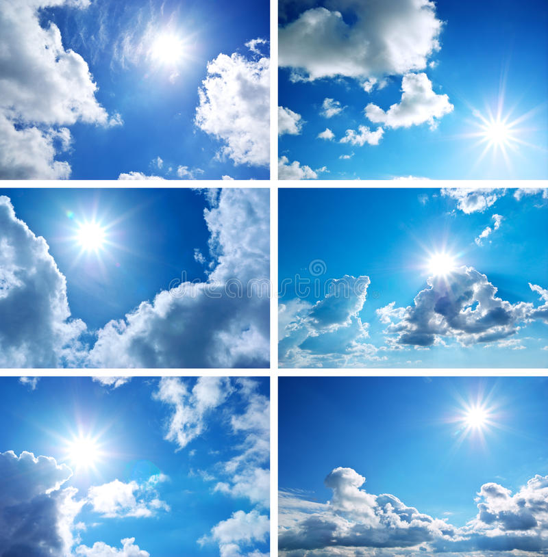 收集天空 图库摄影
