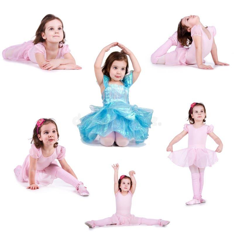 收集女孩小的照片 免版税图库摄影