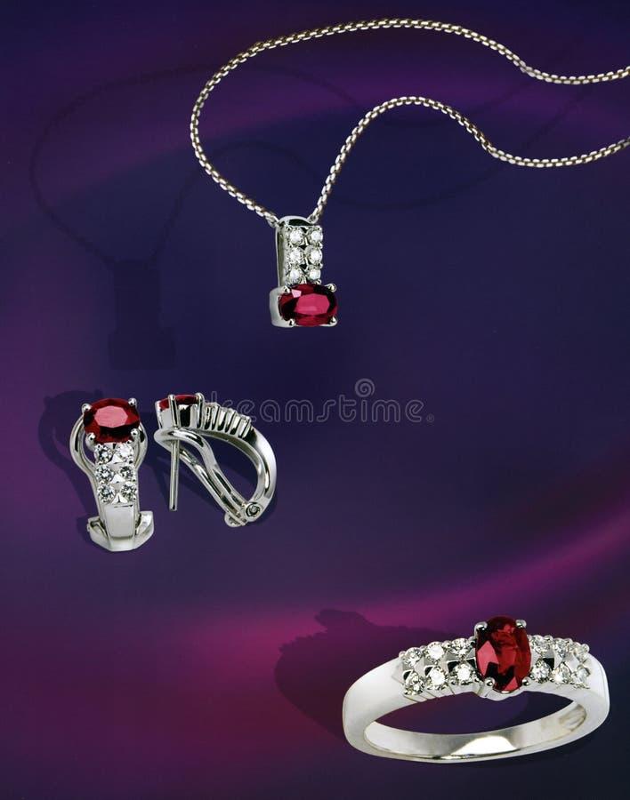 收集宝石工人装饰品 库存图片