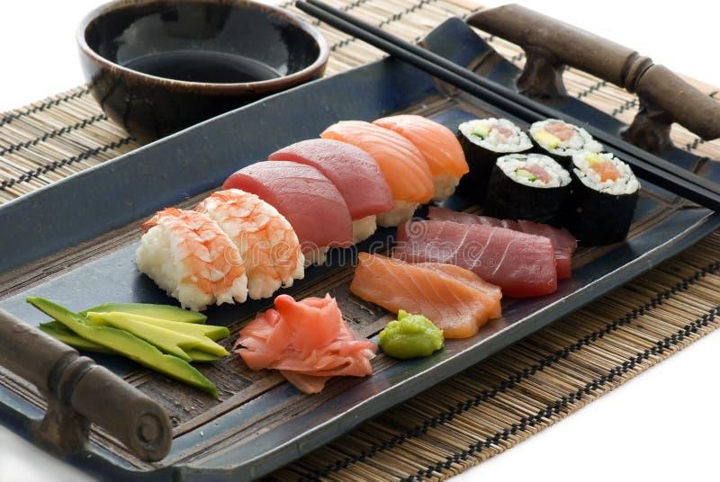 收集寿司 库存图片