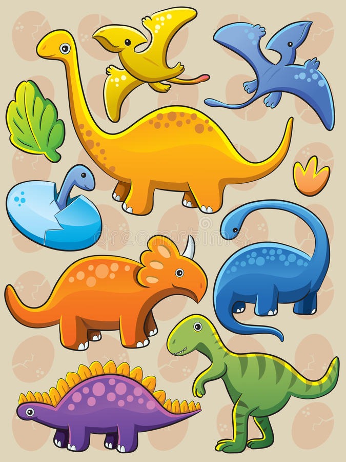 收集恐龙 库存例证