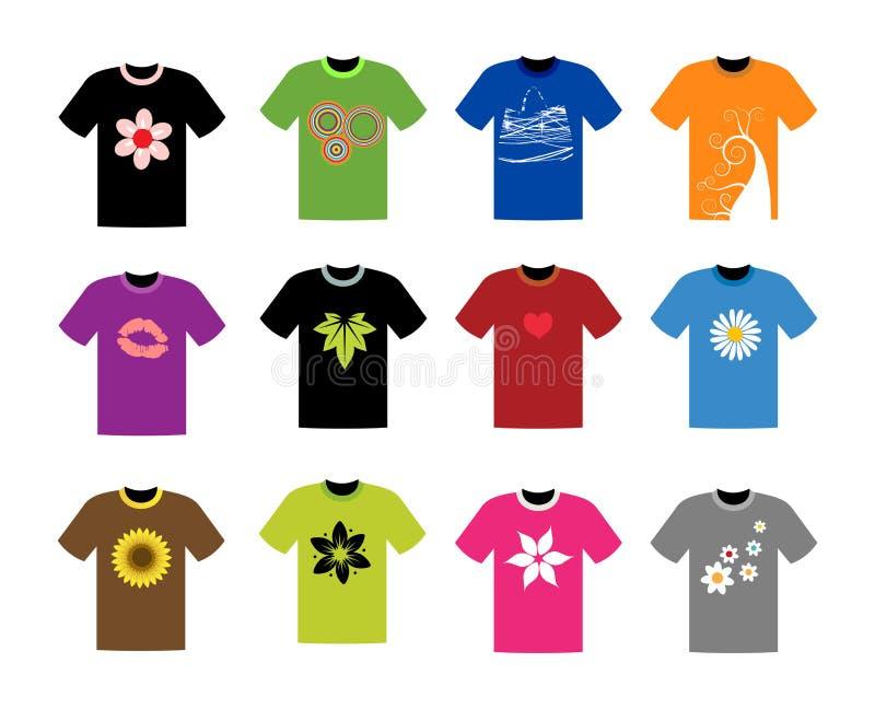 收集您设计的衬衣t 库存例证