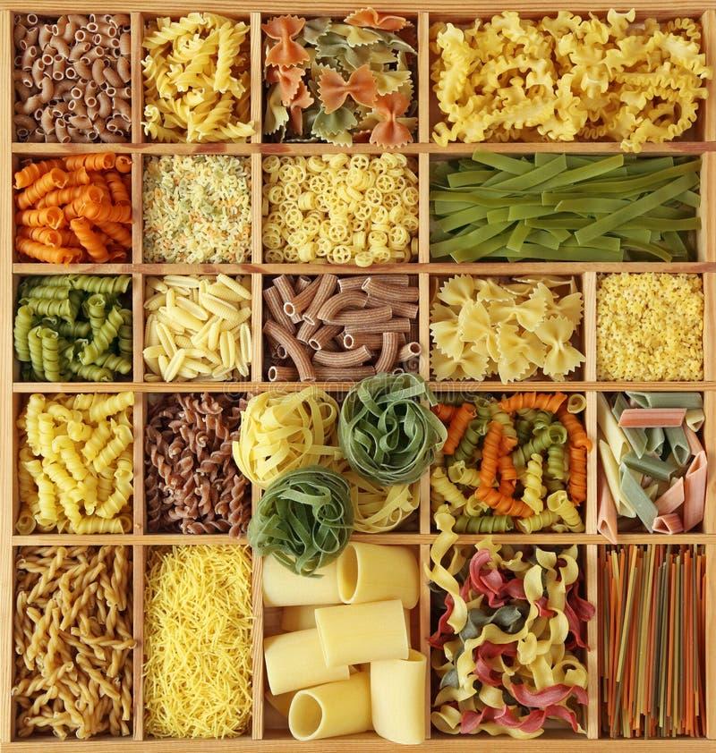 收集意大利人意大利面食 库存图片