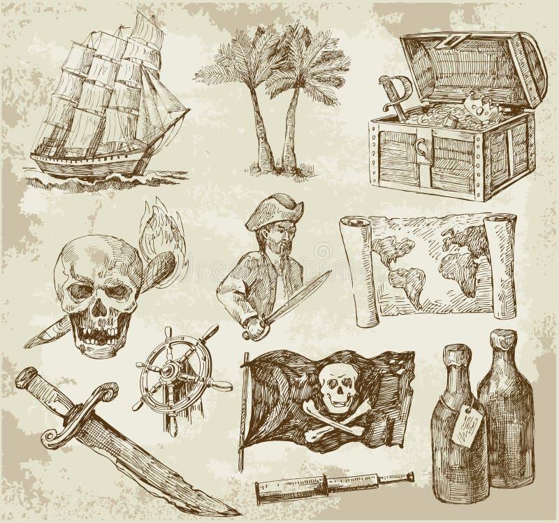 收集海盗 皇族释放例证