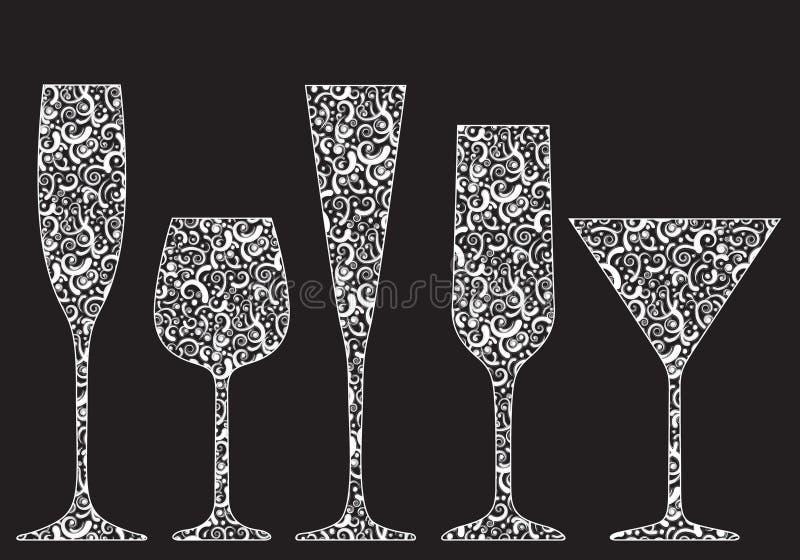 收集玻璃新的s年 向量例证