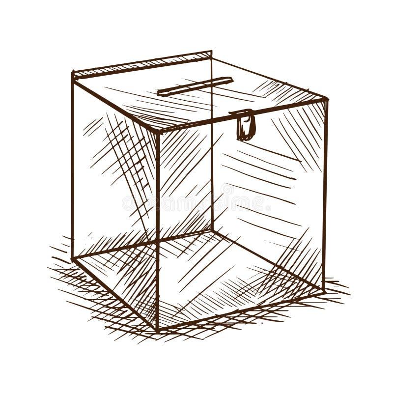 收集的施舍和捐赠箱子的文化的发展 皇族释放例证