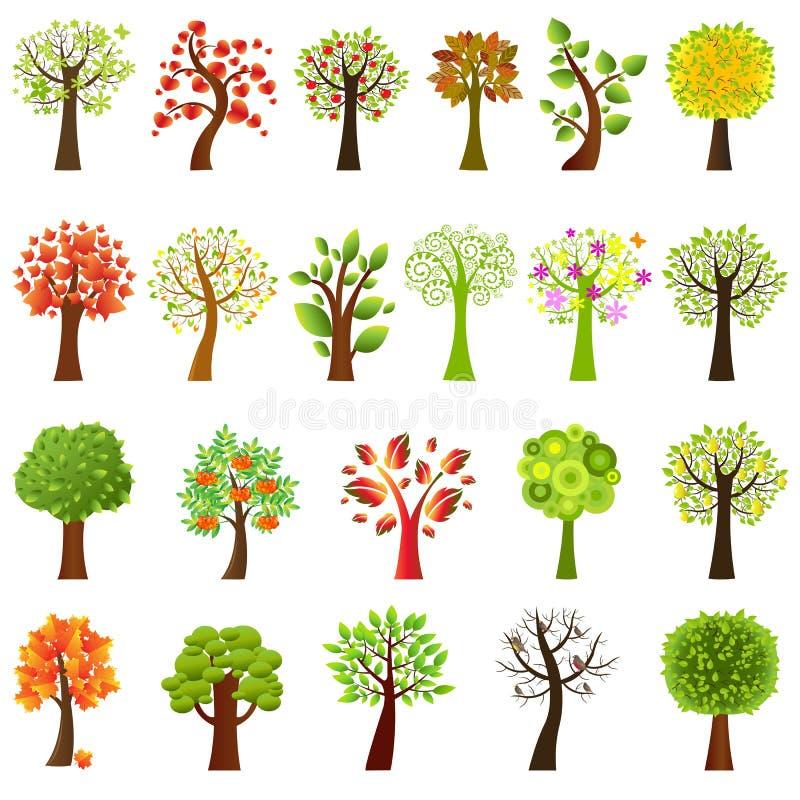 收集结构树向量 库存例证