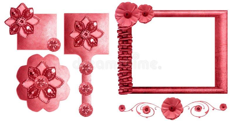 Download 收集花卉框架粉红色 库存例证. 插画 包括有 粉红色, 框架, 装饰, 收集, 华丽, 设计, 查出, 花卉 - 22351107