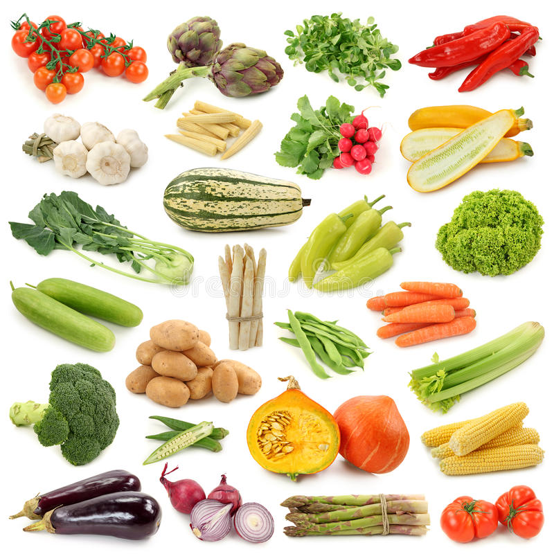 收集蔬菜 免版税库存图片