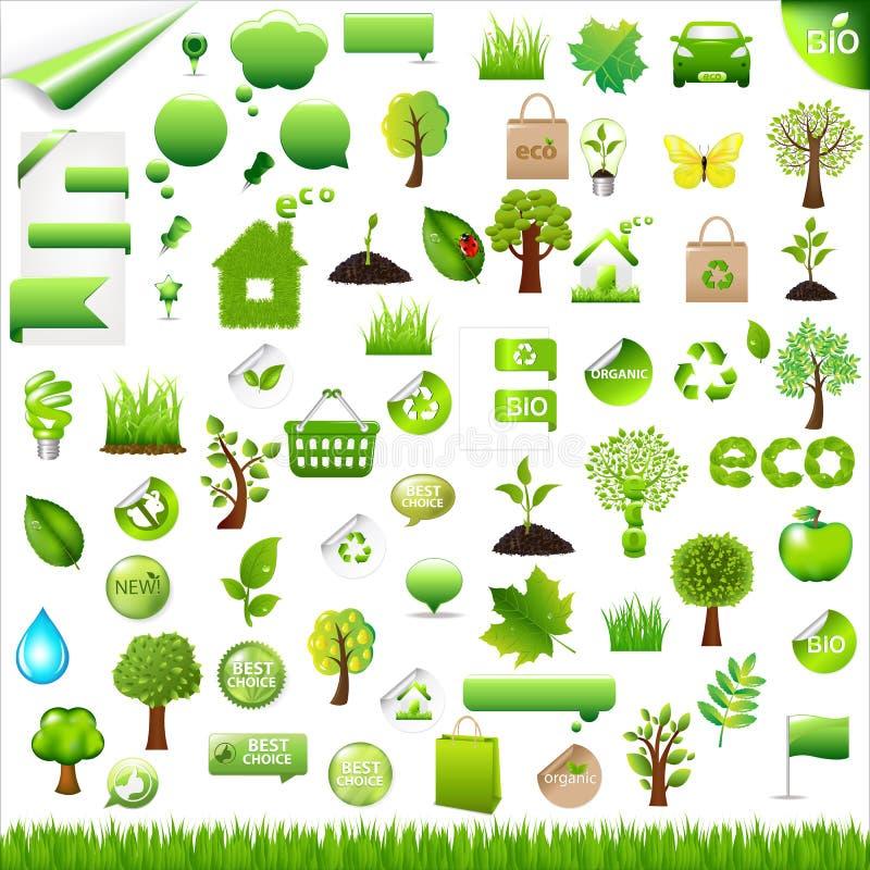 收集设计eco要素向量 库存例证