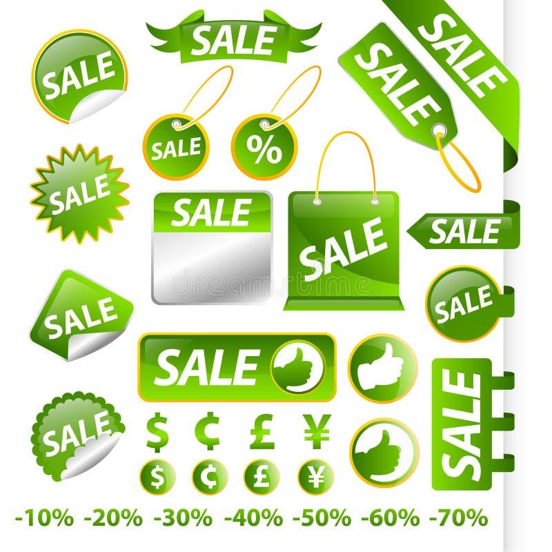 收集销售额标签 向量例证