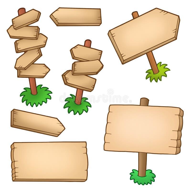 收集镶板多种木 向量例证