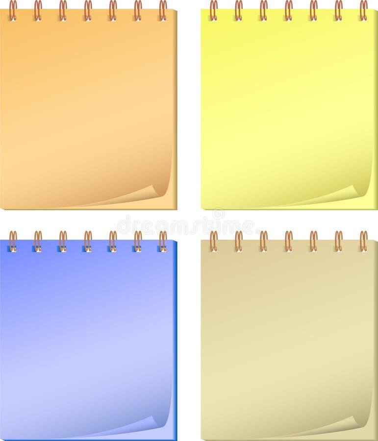 收集颜色记事本 免版税库存照片