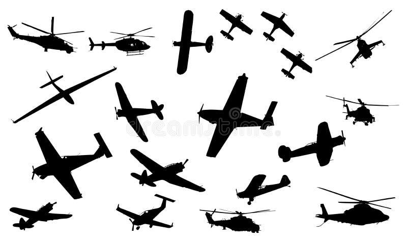 收集飞机 向量例证