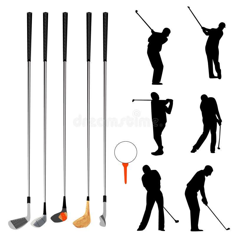 收集高尔夫球 库存例证