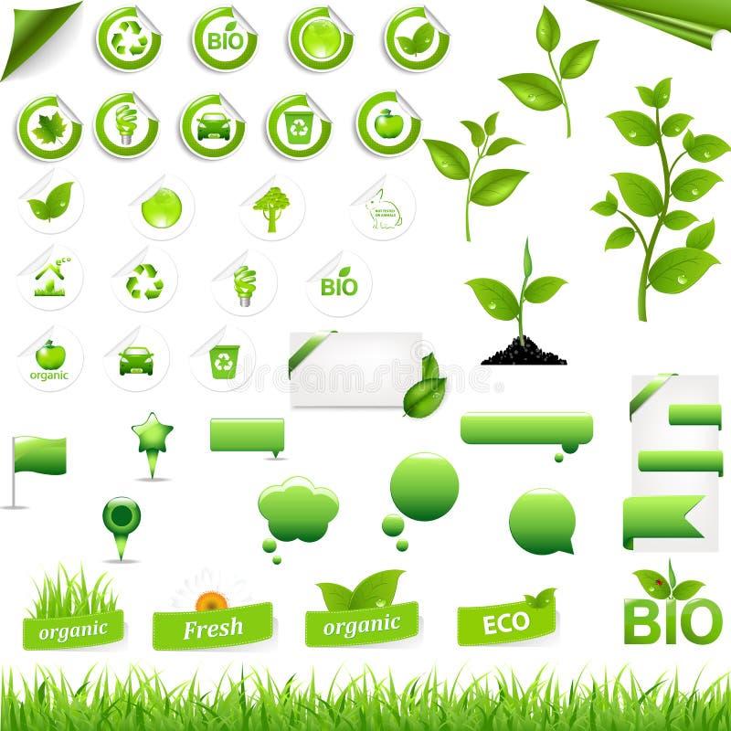 收集eco要素 向量例证