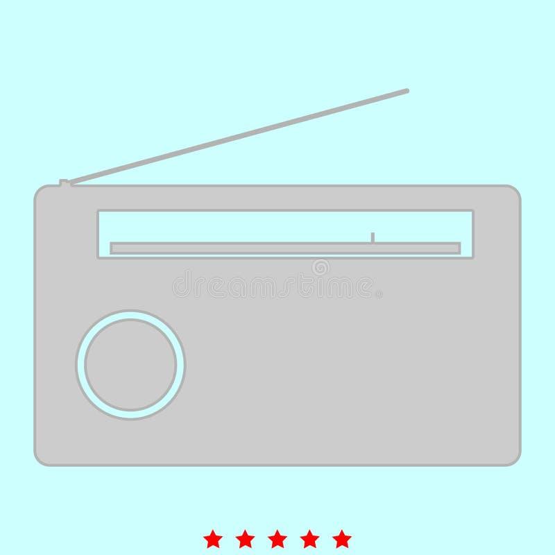 收音机它是象 皇族释放例证