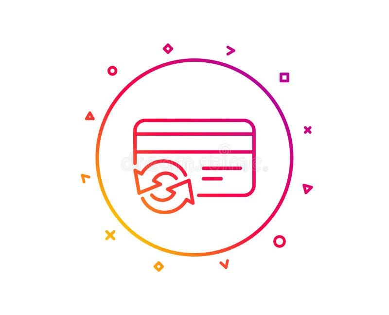 改变信用卡线象 付款方法标志 向量 库存例证