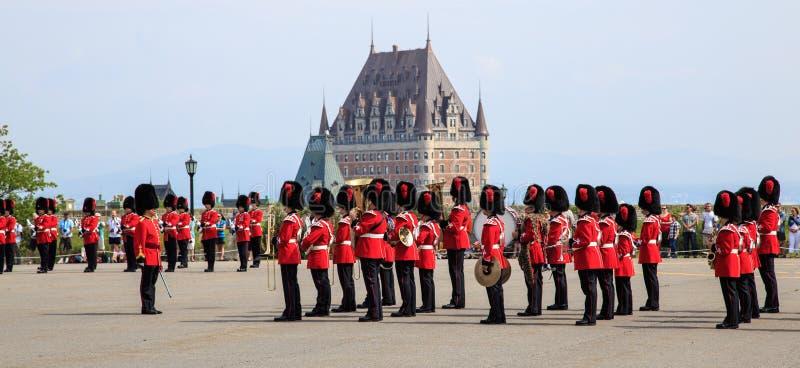 改变卫兵,魁北克市 免版税图库摄影