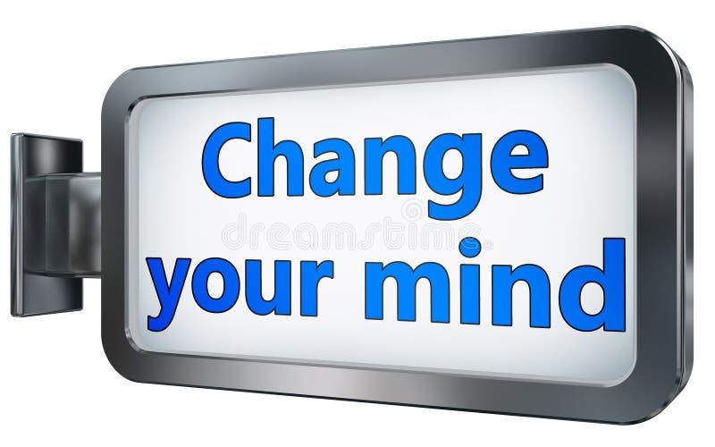 改变在广告牌的主意 库存例证