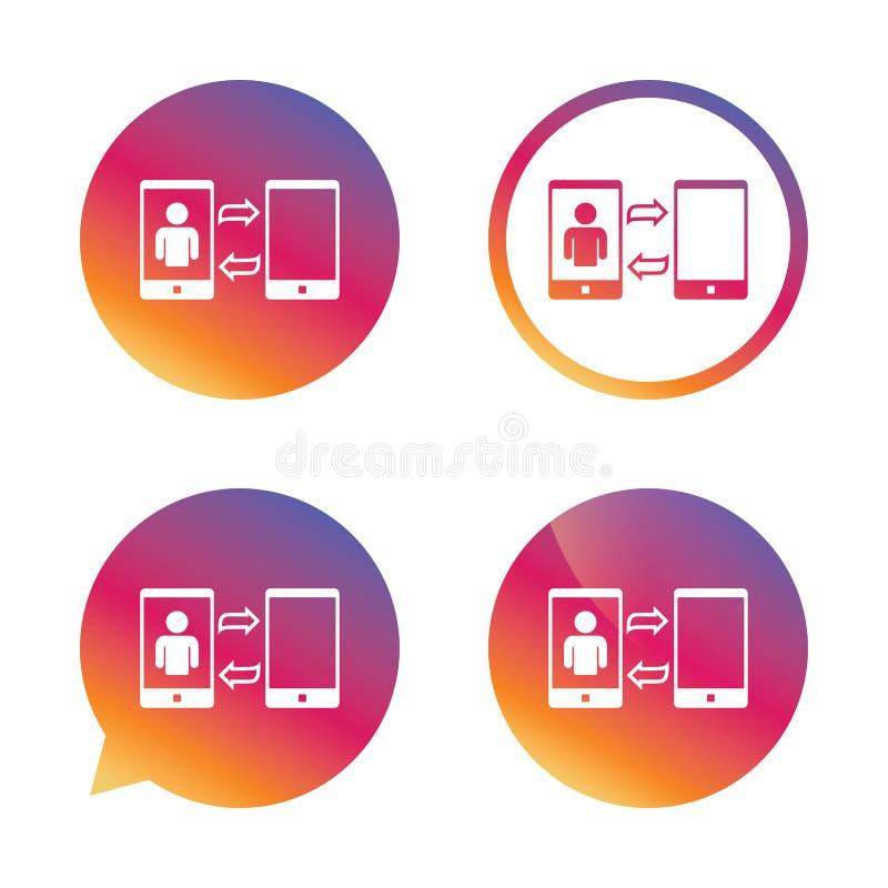 改变录影电话到简单的信号呼号象 库存例证