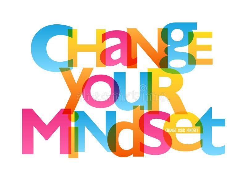 改变您的心态印刷术海报 库存例证