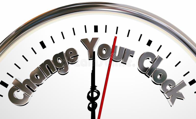 改变您的时钟轮手后面向前时间 库存例证