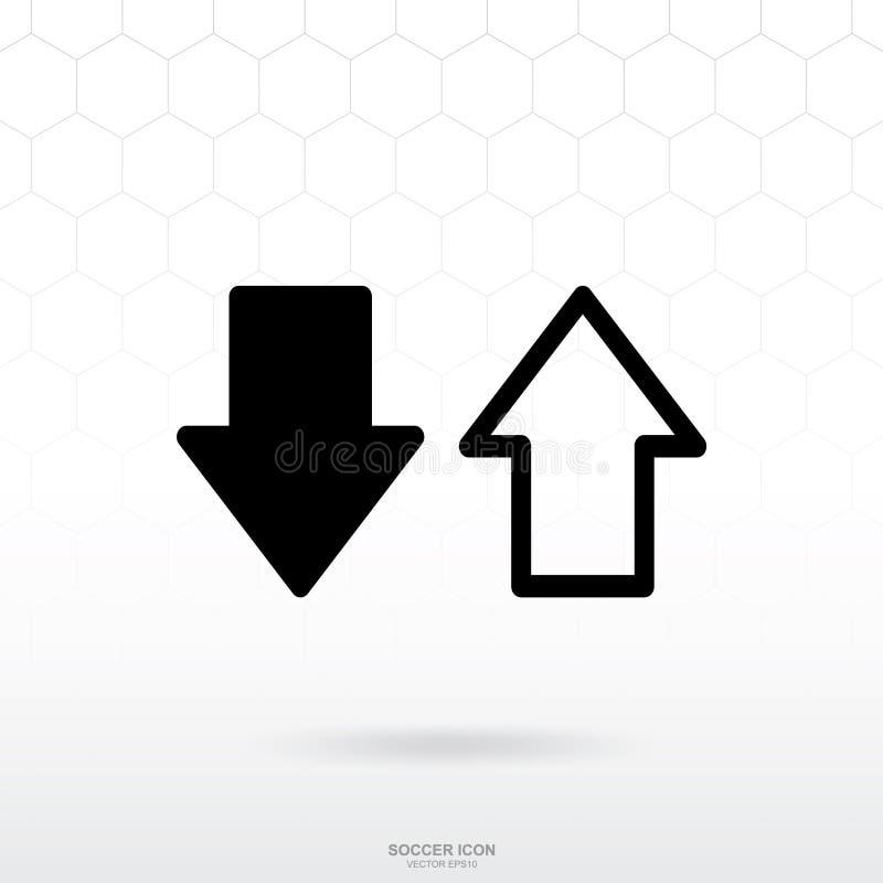 改变球员或替换象 足球橄榄球体育标志和标志 库存例证