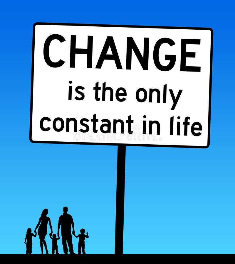 改变生活家庭 向量例证