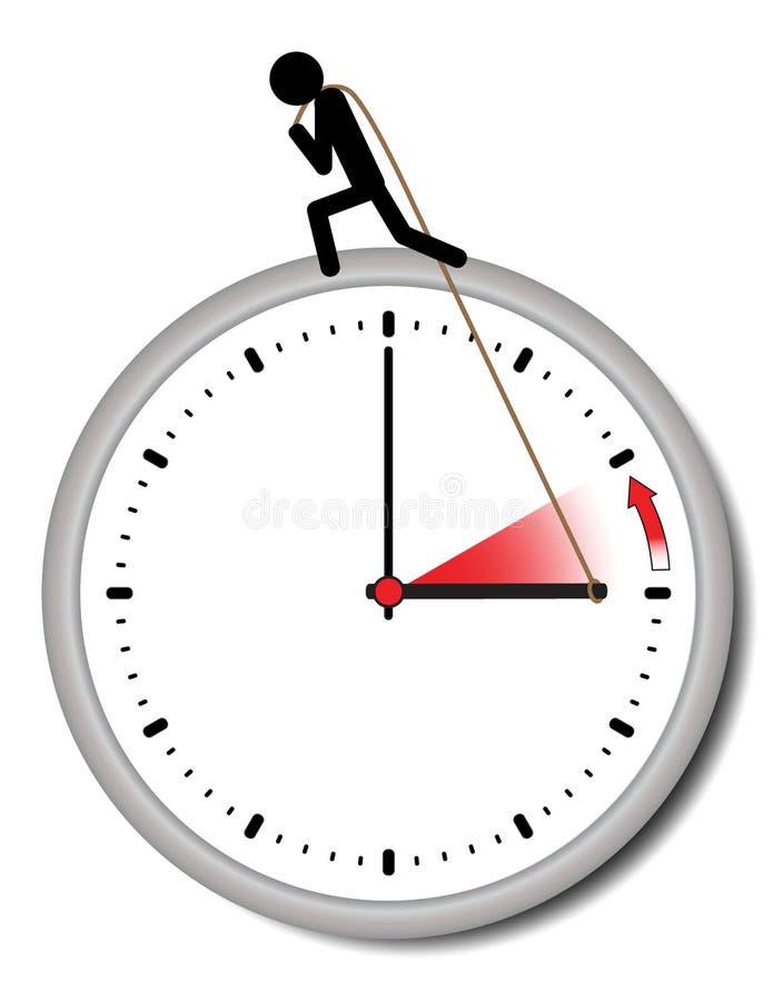 改变的夏时制和标准时间的例证 向量例证