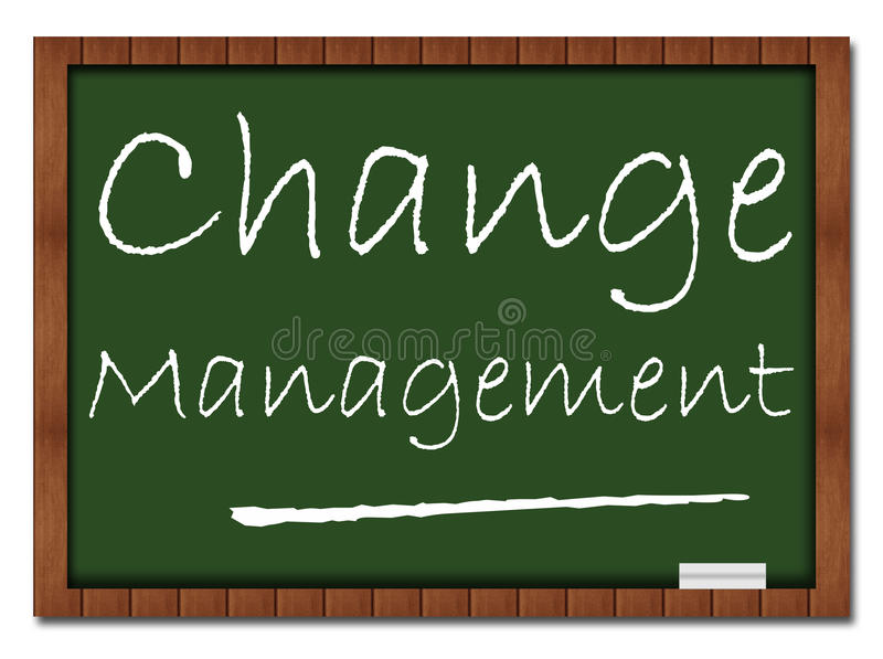 改变管理教室板 向量例证